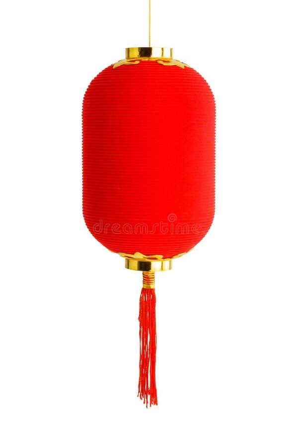 Rote Laterne für das Chinesische Neujahrsfest getrennt auf weißem Hintergrund stockbild