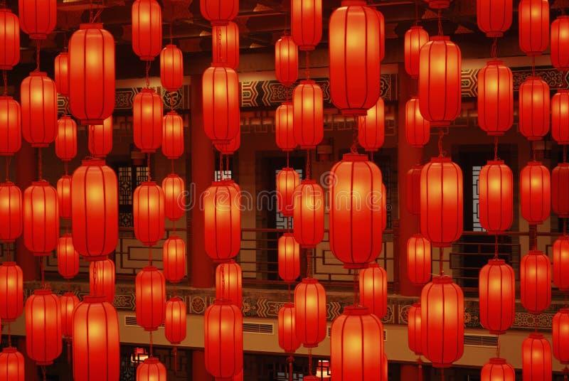 Rote Laternen 3 stockfotos
