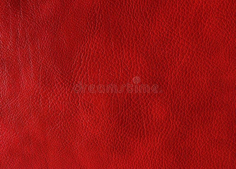 Rote lederne Beschaffenheit stockfoto