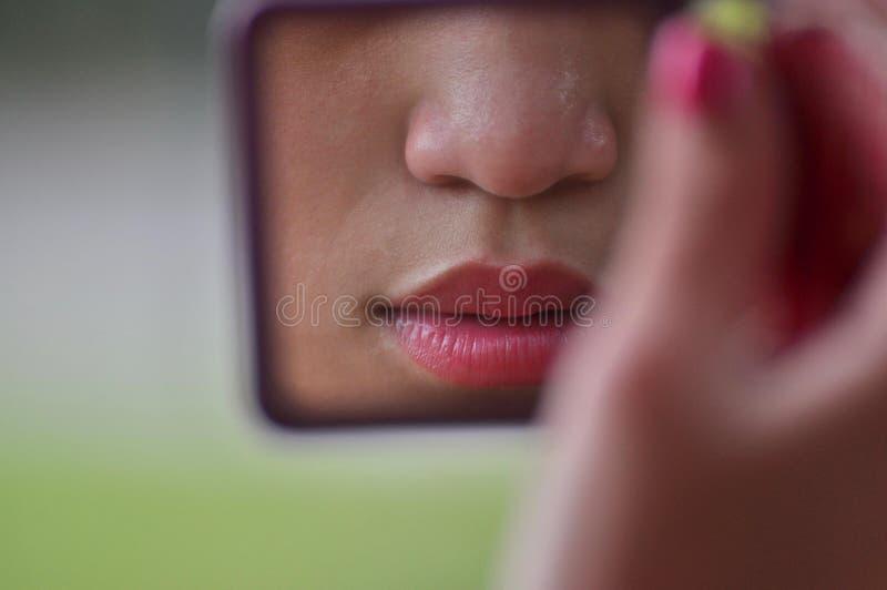 Rote Lippen stockfotos