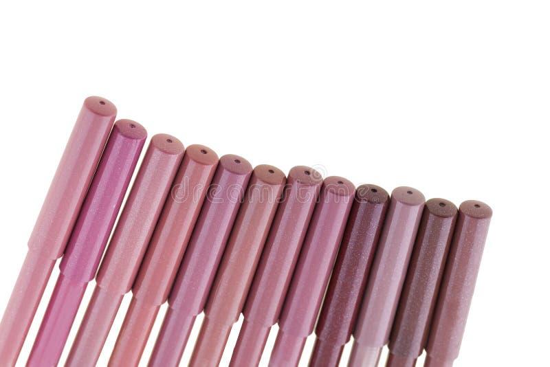 Rote Lippenzwischenlagen lizenzfreies stockbild