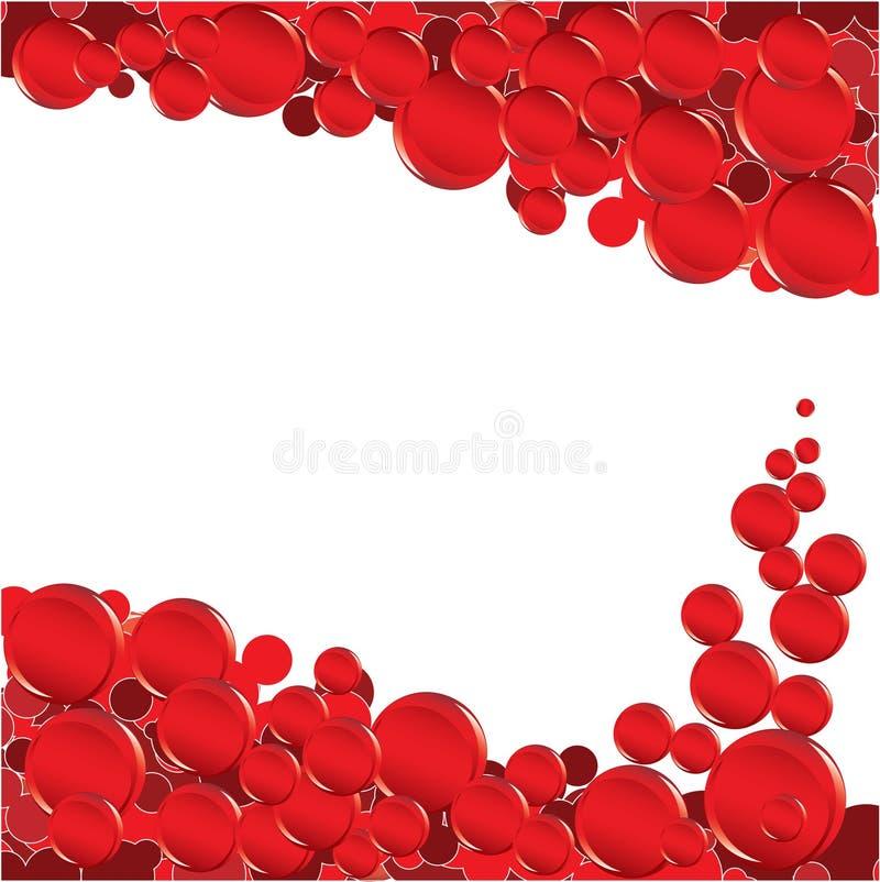 Rote Luftblase stock abbildung