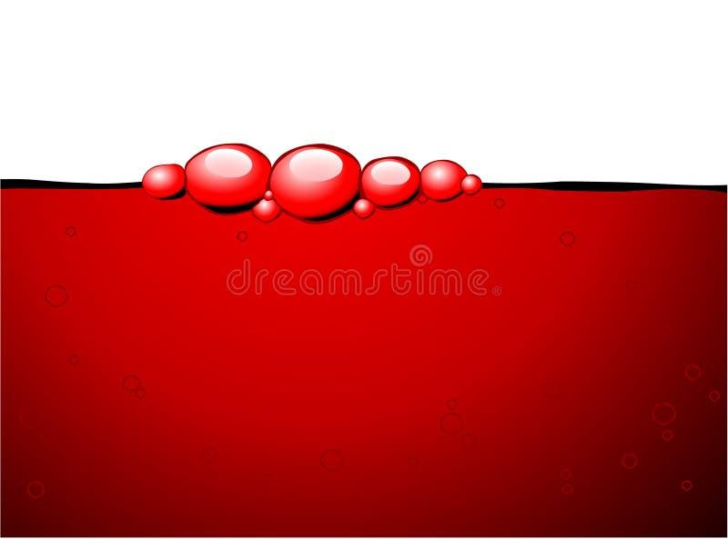 Rote Luftblasen im Rotwein vektor abbildung