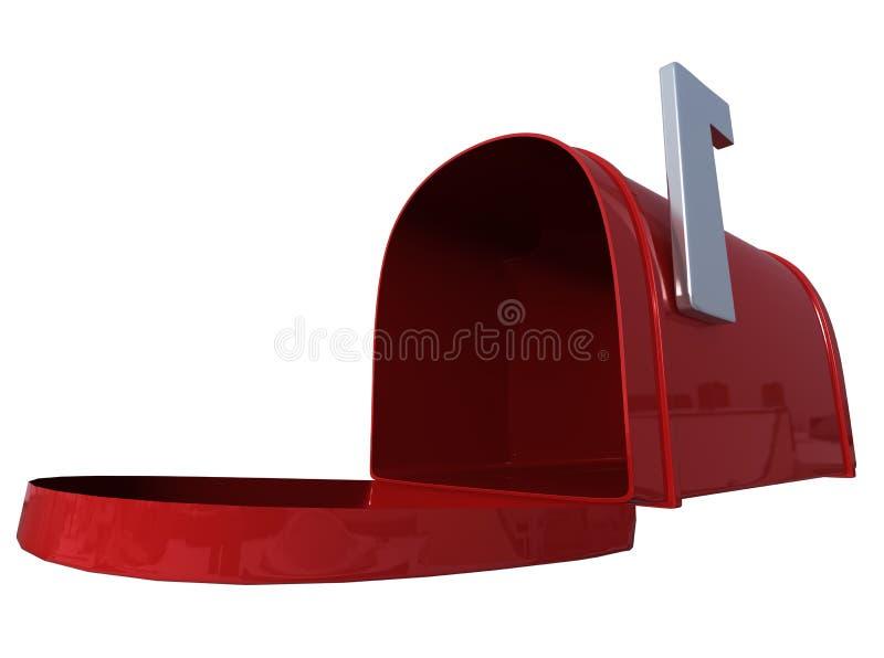 Rote Mailbox stockbilder