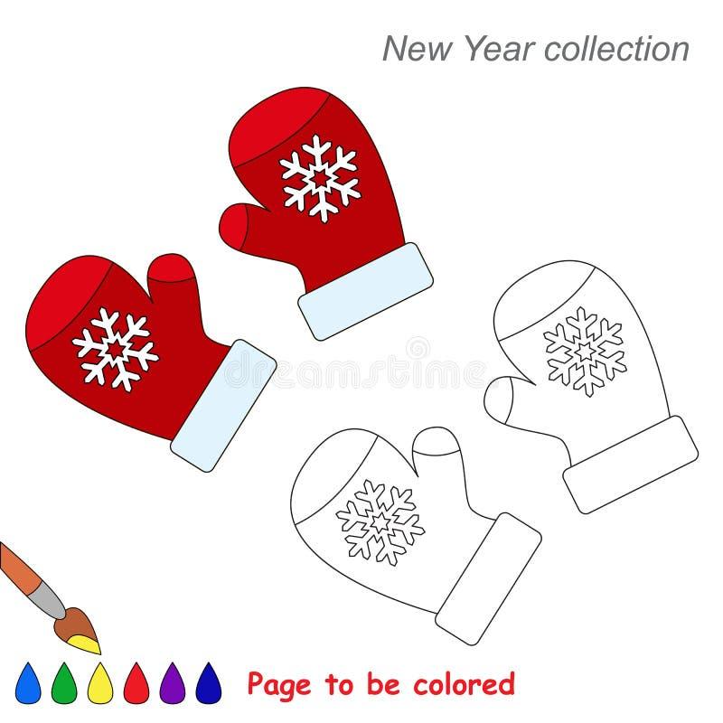 Rote mitters in der gefärbt zu werden Vektorkarikatur stock abbildung