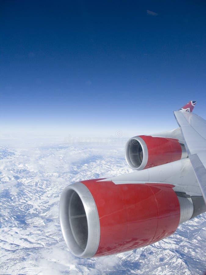 Rote Motoren stockfotos