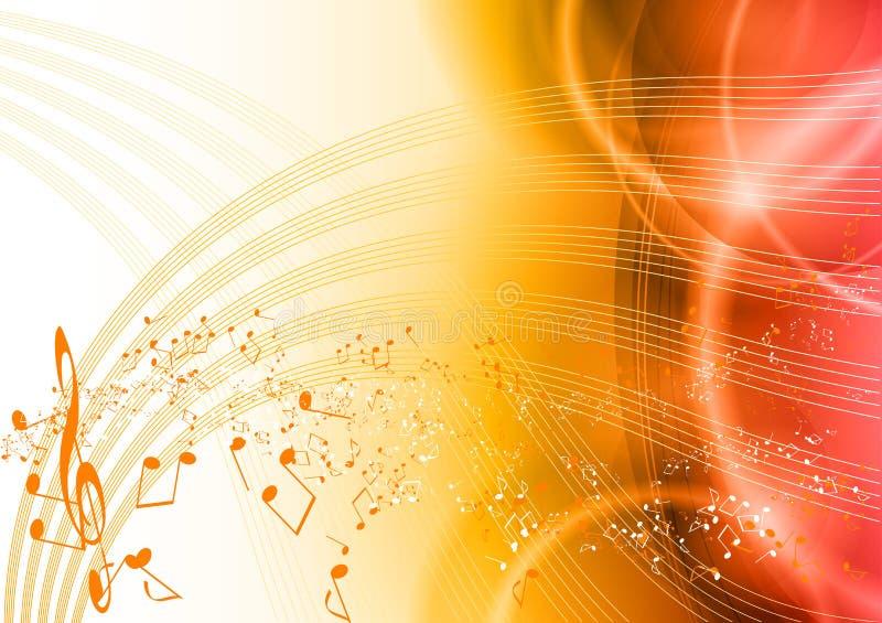 Rote Musik lizenzfreie abbildung