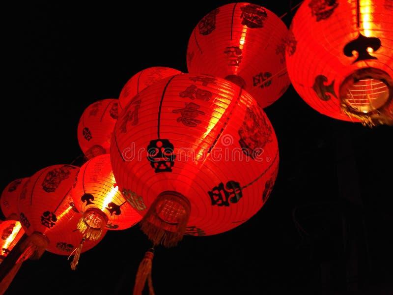 Rote Nachtchineselaterne lizenzfreie stockfotografie