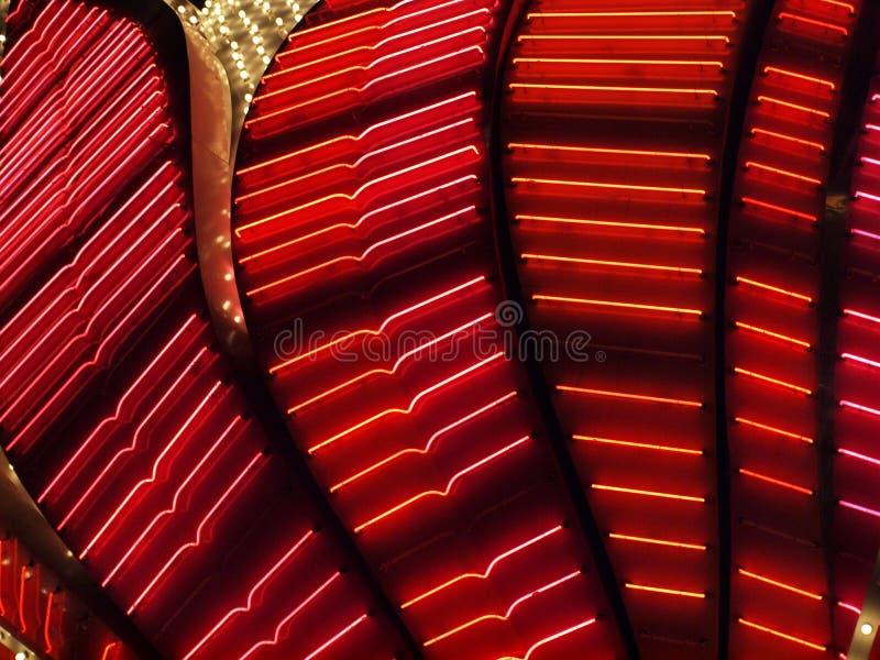 Rote Neonleuchten lizenzfreie stockfotografie