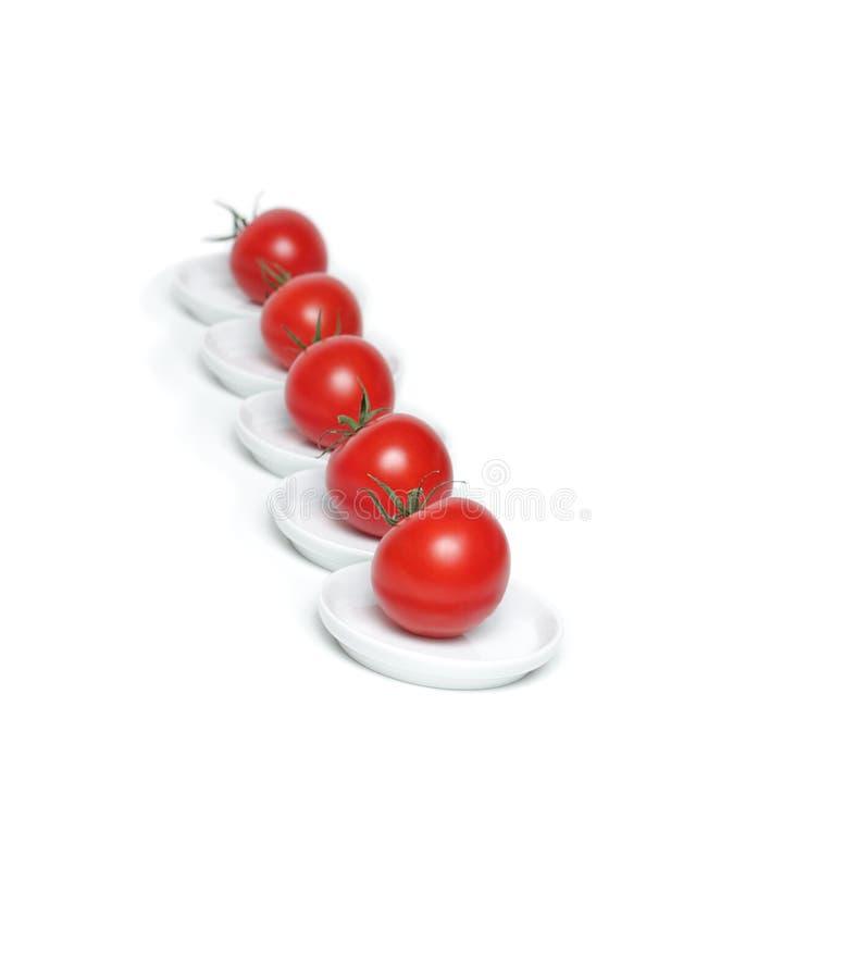 Rote organische Tomate fünf lizenzfreie stockbilder