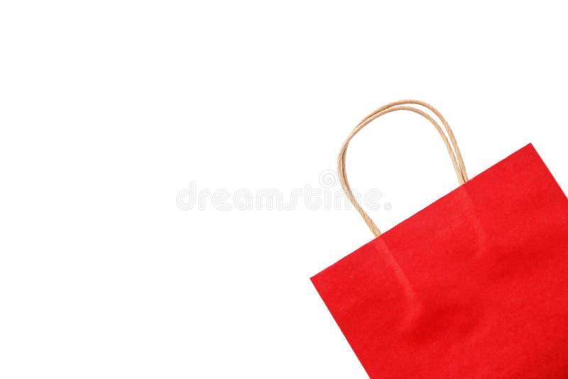 Rote Papiert?te auf wei?em Hintergrund Beschneidungspfad eingeschlossen lizenzfreies stockfoto