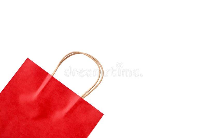 Rote Papiert?te auf wei?em Hintergrund Beschneidungspfad eingeschlossen lizenzfreies stockbild