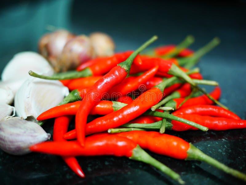 Rote Paprikas für Lebensmittel lizenzfreie stockbilder