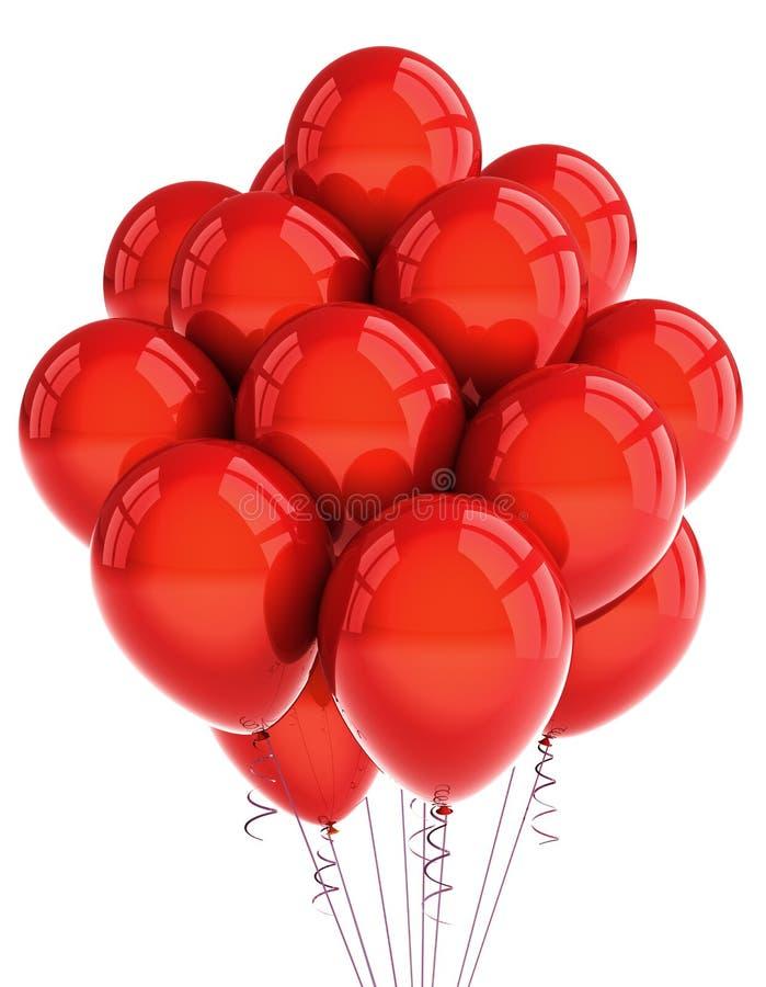 Rote Party ballooons lizenzfreie abbildung