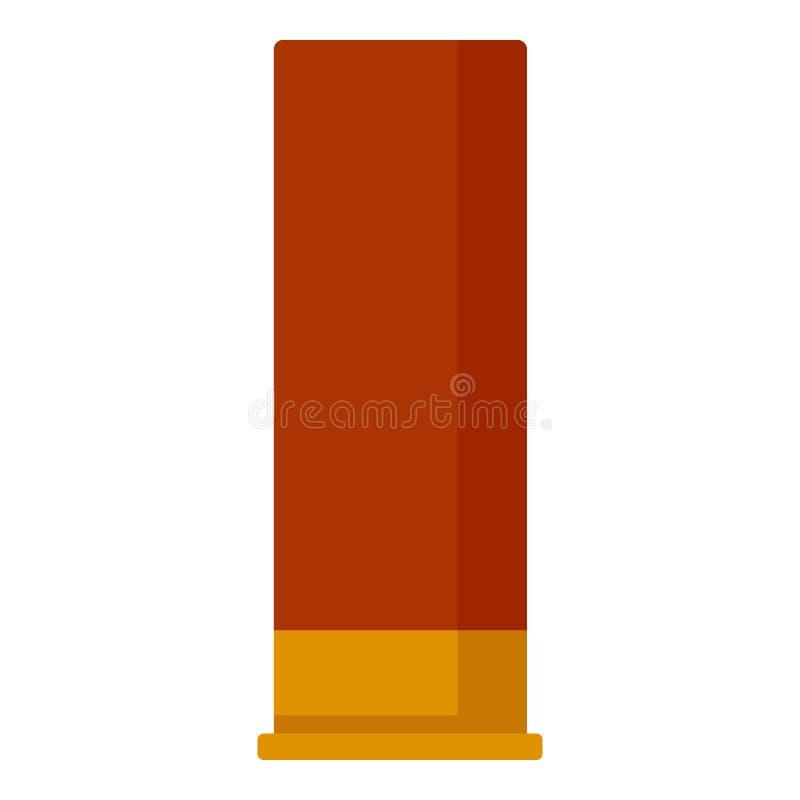 Rote Patronenikone der Schrotflinte, flache Art stock abbildung