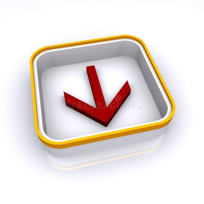Download Rote Pfeiltaste stock abbildung. Illustration von nachricht - 12201232