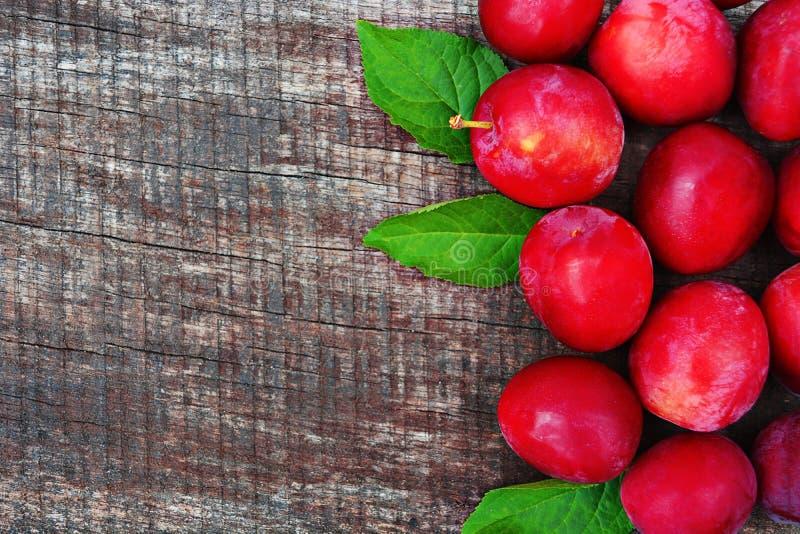 Rote Pflaumen stockbilder