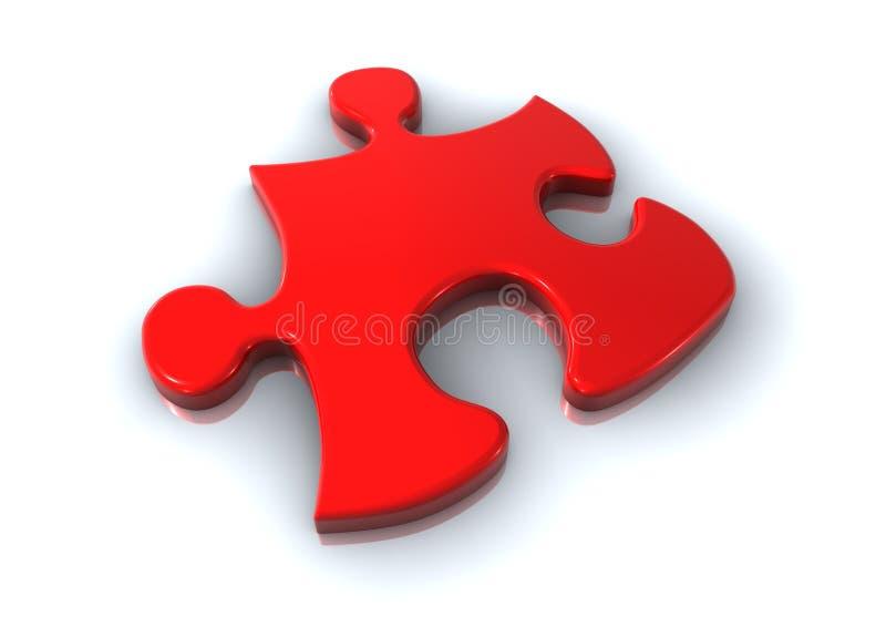 Rote Puzzlespielstücke lizenzfreie abbildung