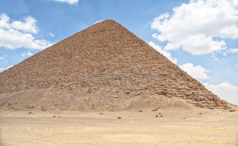 Rote Pyramide in Dahshur lizenzfreies stockbild