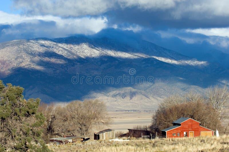 Rote Ranch lizenzfreie stockbilder