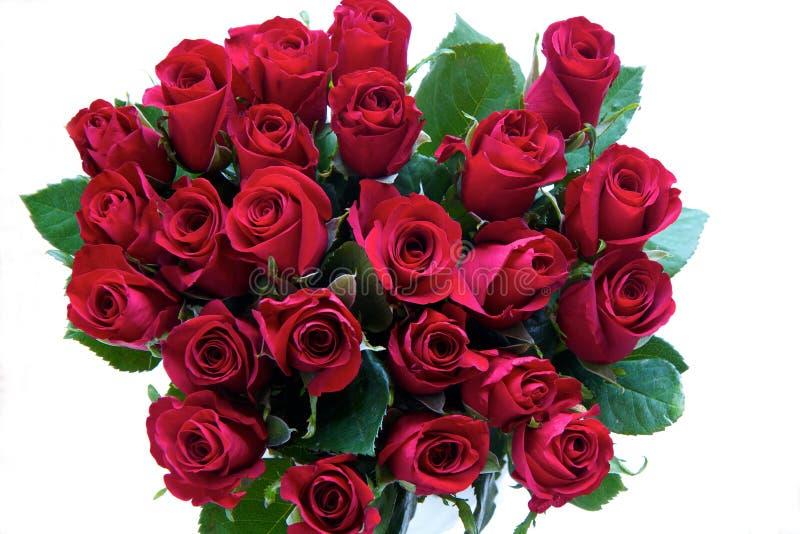 Rote Rosen in einem Bündel lizenzfreies stockbild