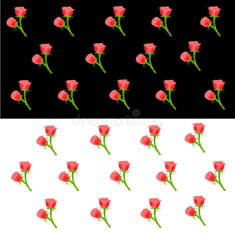 Rote rosen tapete vektor abbildung illustration von - Rote tapete ...