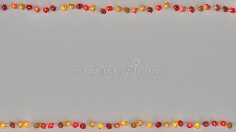 Rote rotang Kettenlichter und Wiedergabe des freien Raumes 3D lizenzfreie abbildung