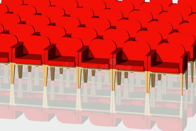 Rote Samtstühle stock abbildung