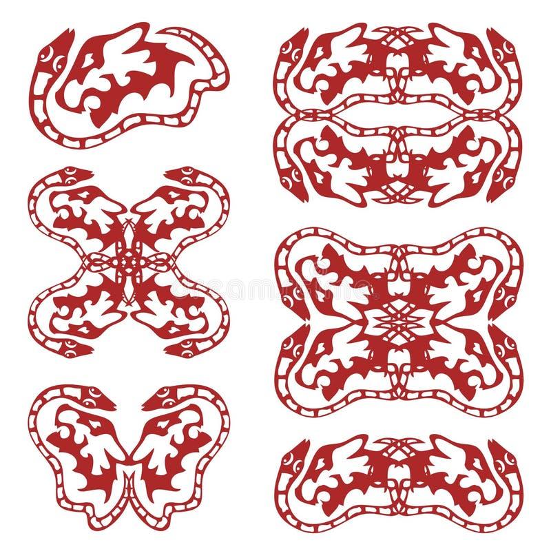 Rote Schlange und Fleischfresser vektor abbildung