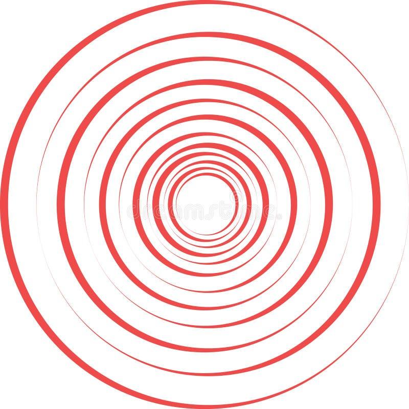 Rote Schmerzringe lizenzfreie abbildung