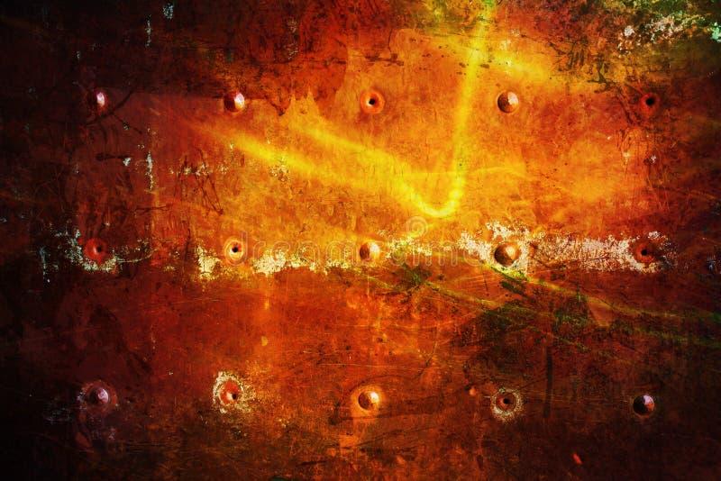 Rote Schmutzbeschaffenheit; Dunkler Metallhintergrund stockbild