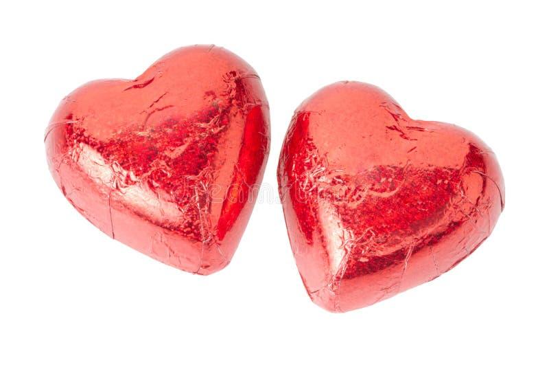 Rote Schokoladenherzen lizenzfreies stockbild