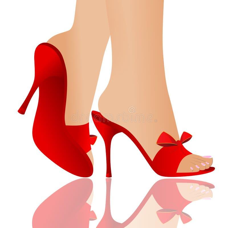 Rote Schuhe stock abbildung