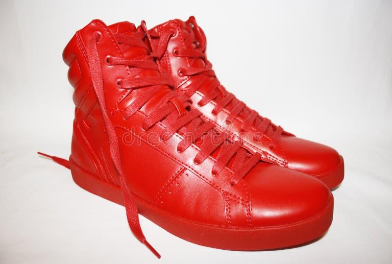 Rote Schuhe stockfotos