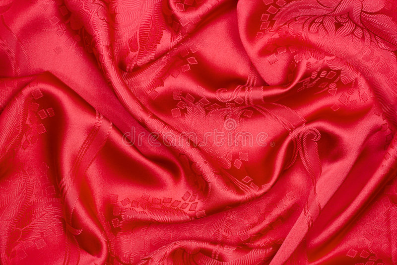 Rote Seide stockfotografie