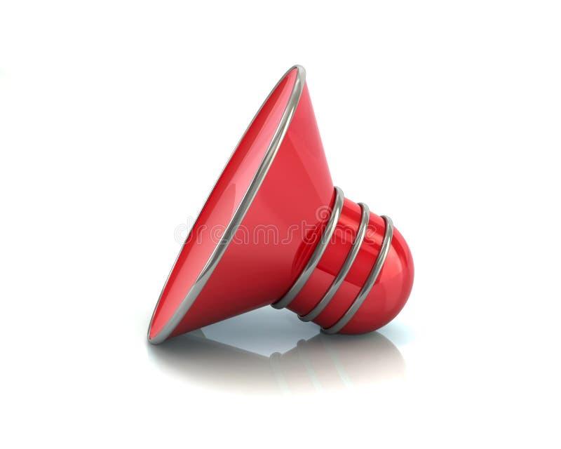 Download Rote Solide Illustration Der Symbolsprecher-Ikone 3d Stock Abbildung - Illustration von loud, notfall: 106801581