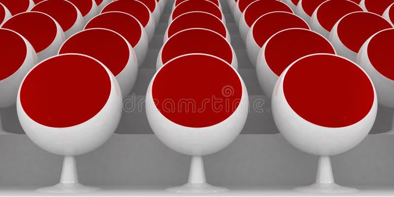 Rote Stühle lizenzfreie abbildung