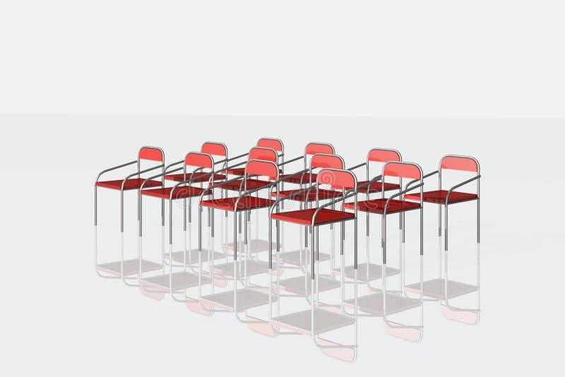 Rote Stühle auf weißem Hintergrund vektor abbildung