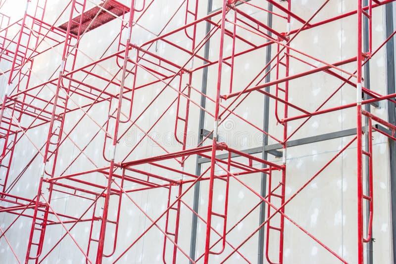 Rote Stahlkonstruktion stockfotos