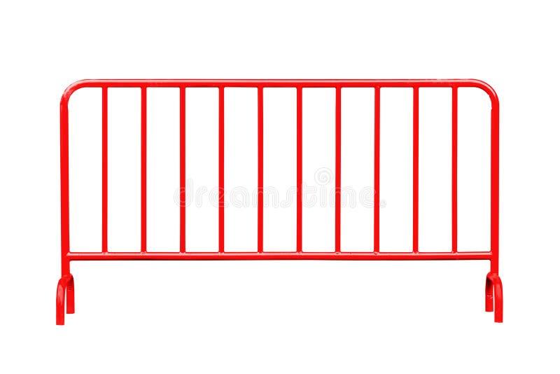 Rote Stahlsperre lokalisiert stockfotos