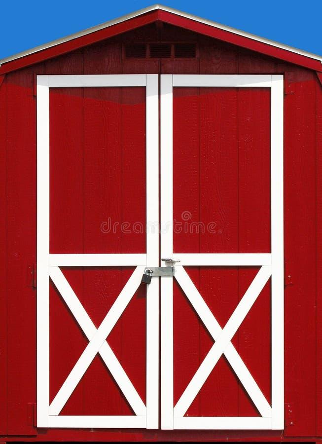 Rote Stall-Tür lizenzfreie stockfotografie