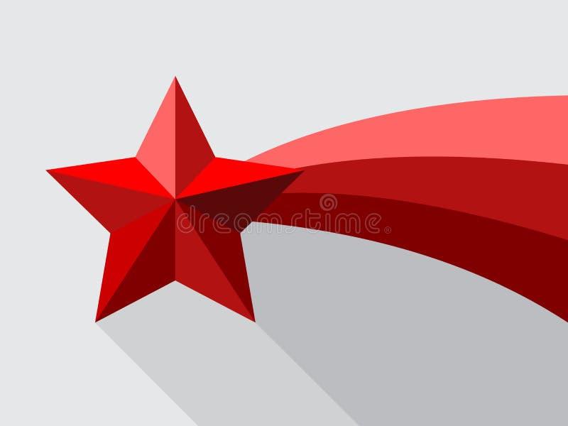 Rote Sternschnuppe mit Swoosh lizenzfreies stockfoto