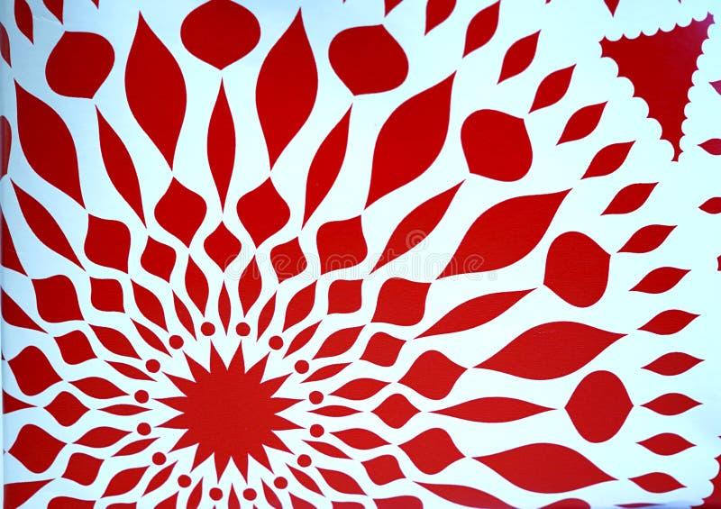 Rote Sternsymmetriezusammenfassung lizenzfreie stockfotografie