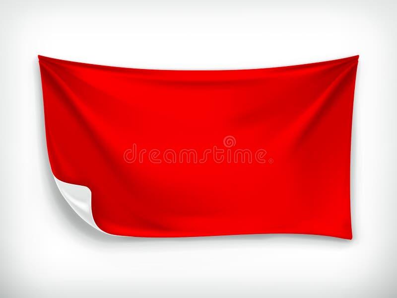 Rote Stofffahne stock abbildung