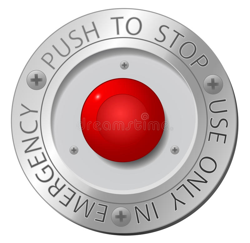 Rote STOPP-Taste lizenzfreie abbildung