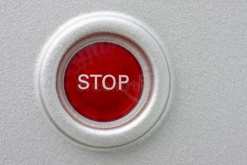 Rote STOPP-Taste lizenzfreie stockbilder