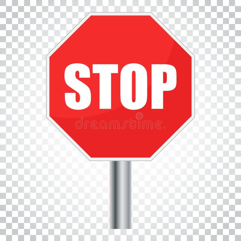 Download Rote Stoppschildvektorikone Gefahrensymbol-Vektorillustration Si Vektor Abbildung - Illustration von abbildung, aufmerksamkeit: 96936003