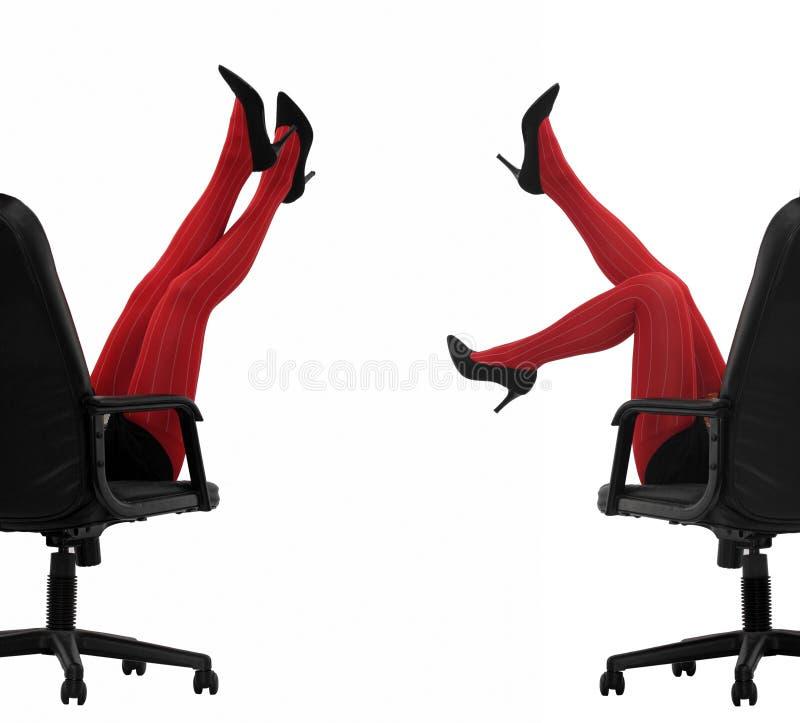 Rote Strümpfe lizenzfreies stockbild