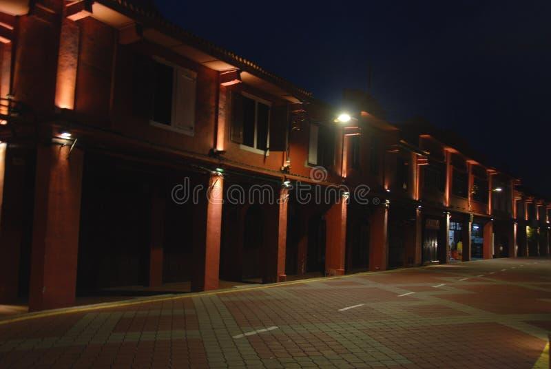 Rote Straße auf Melaka-Stadt stockfotos