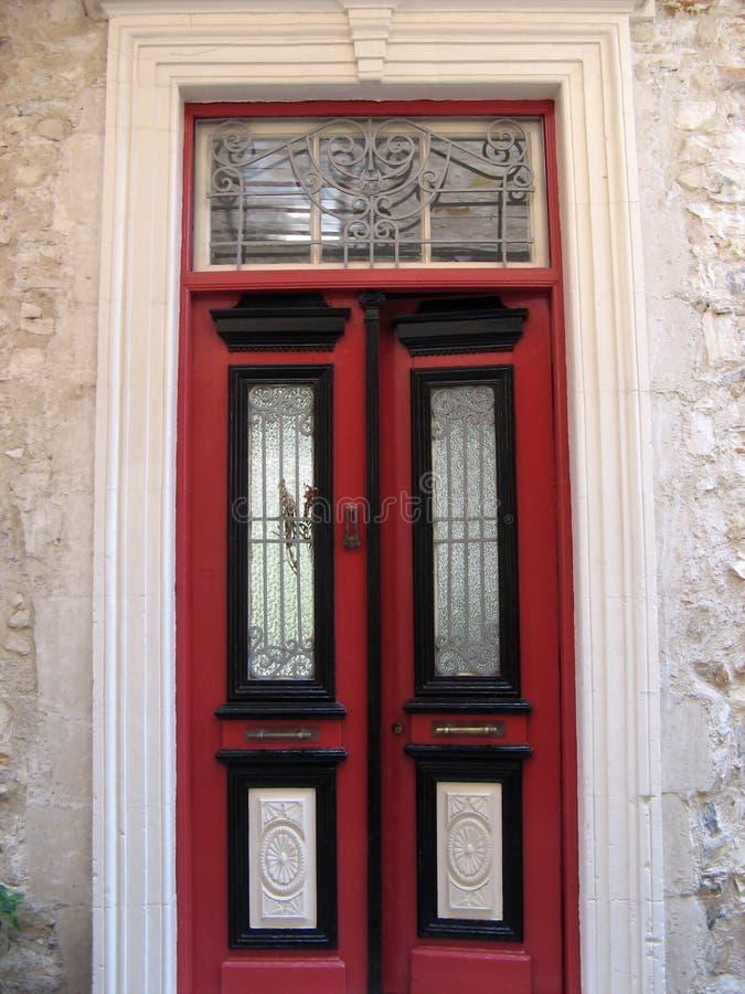 Rote Tür stockbild